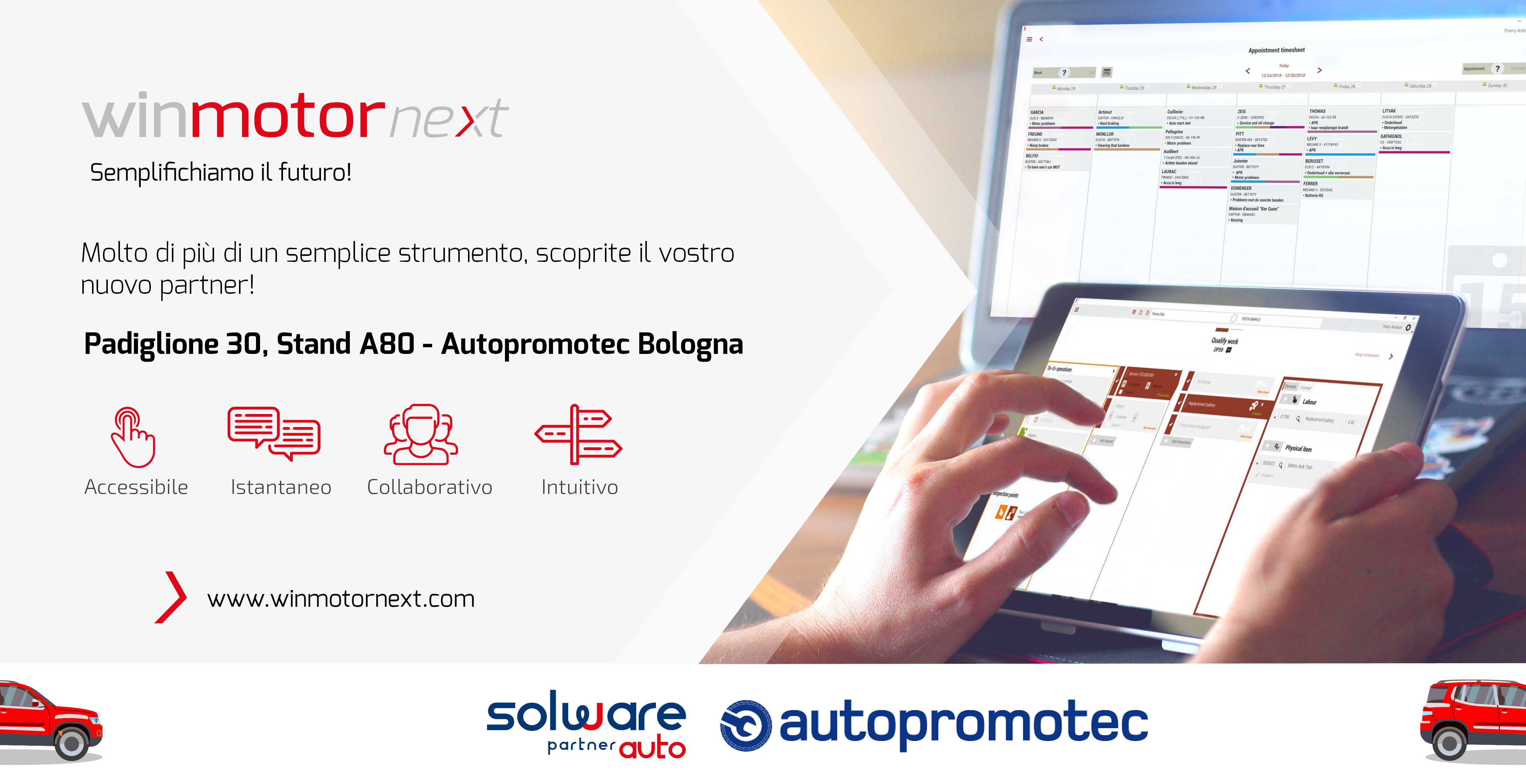 Solware Auto Autopromotec Bologna winmotor next
