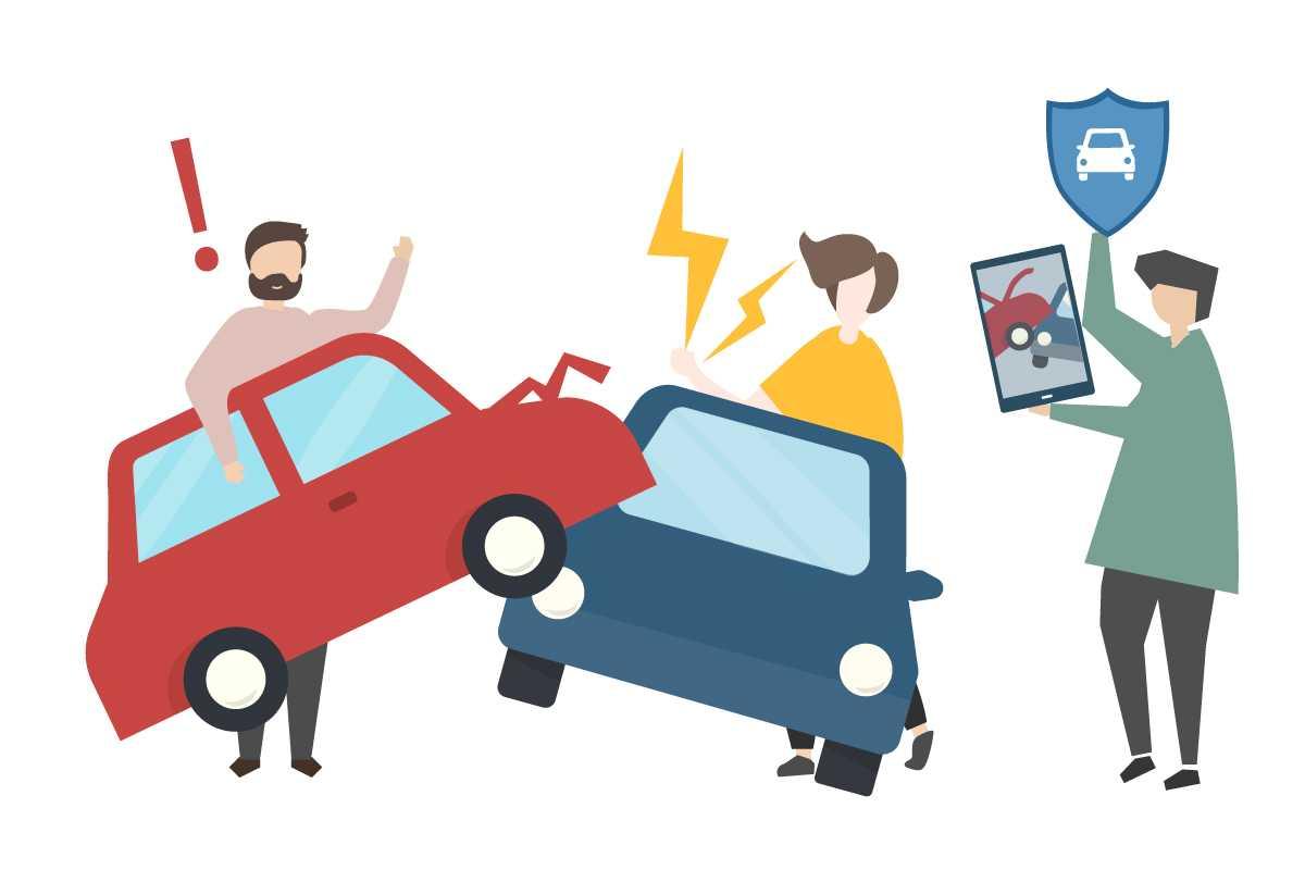 Car accident and insurance concept Logiciel DMS de facturation, mécanique, carrosserie, gestion atelier, vente de véhicule d'occasion et Véhicules Neufs