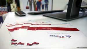 Solware Auto au salon Equip Auto pour présenter notre logiciel de gestion et facturation pour les carrossiers, agents de marque, réparateur agréé, MRA indépendant, vendeur VO ou réseau APV