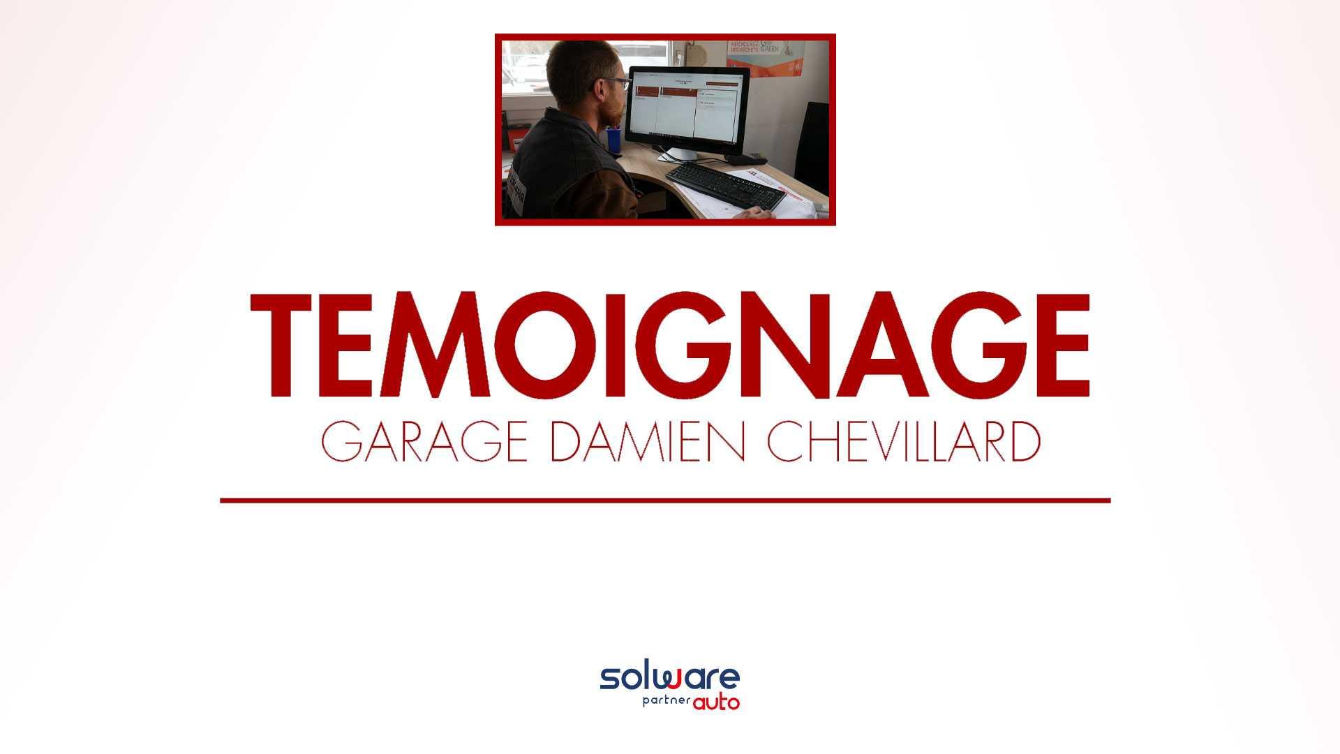 Damien Chevillard gérant du garage et membre du réseau EUROREPAR Car Service témoigne sur l'utilisation de notre logiciel de gestion atelier mécanique/carrosserie, vente VO, comptabilité «winmotor next», ainsi que sur la qualité des services de Solware Auto