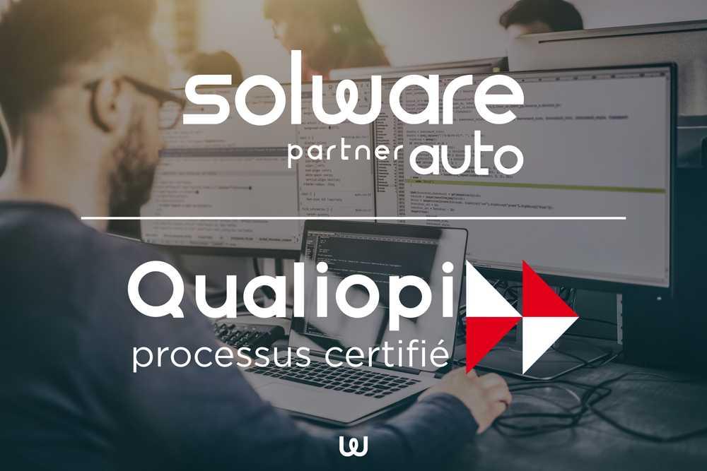 Solware Auto certifié Qualiopi processus qualité pour les Organismes de Formation